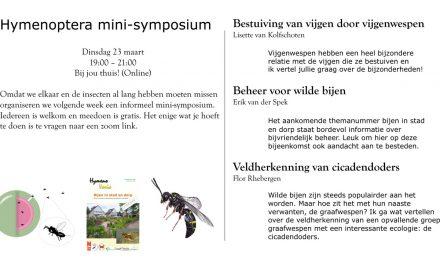 23 maart 2021 – Minisymposium Hymenoptera